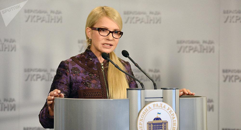 Yulia Timoshenko, ex primera ministra de Ucrania y líder del partido Batkivschina