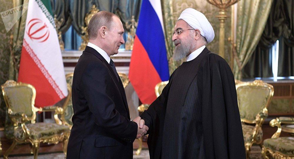 Presidente de Rusia, Vladímir Putin, y presidente de Irán, Hasán Rohaní