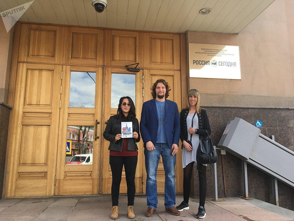 Victor Ternovsky con Judith Gómez y Nadia Conde