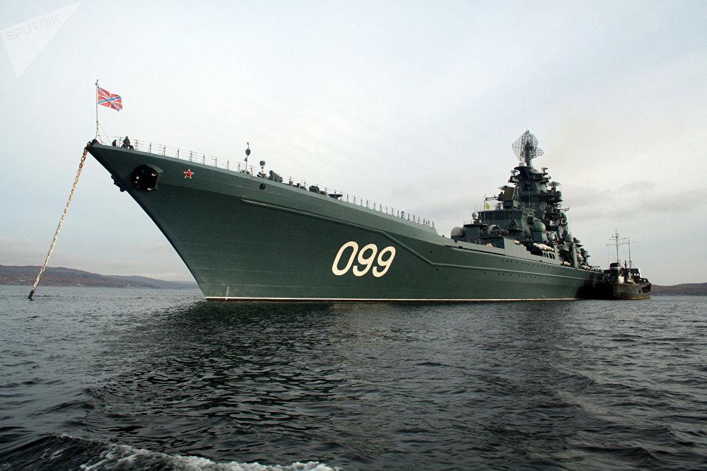 Crucero pesado Pedro el Grande de la Flota rusa del Norte