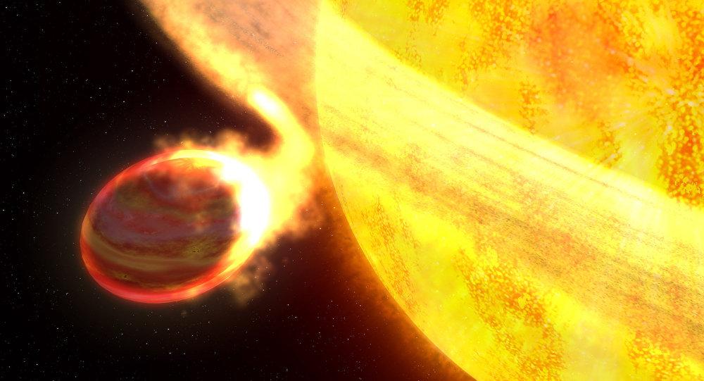 Un planeta y una estrella (imagen referencial)