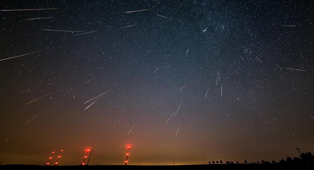 La lluvia de meteoros