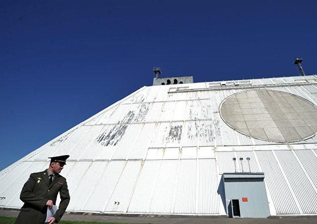 Una estacion de radar del sistema de defensa antimisiles de Moscú (archivo)