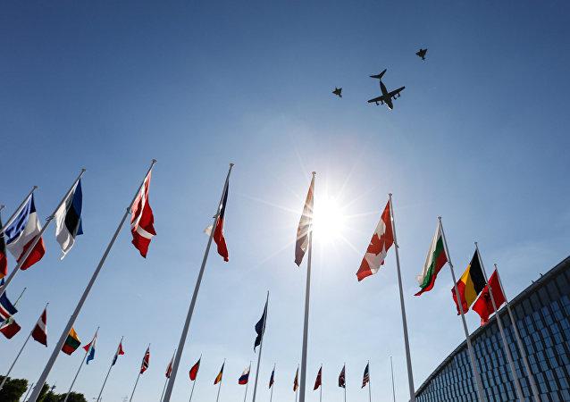 Las banderas de los países miembros de la OTAN