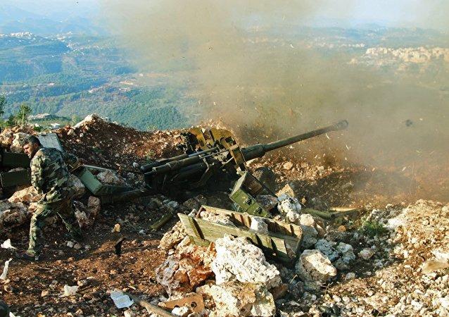 Punto de apoyo de las fuerzas gubernamentales de Siria en la provincia de Latakia
