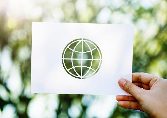 Un planeta verde (imagen referencial)