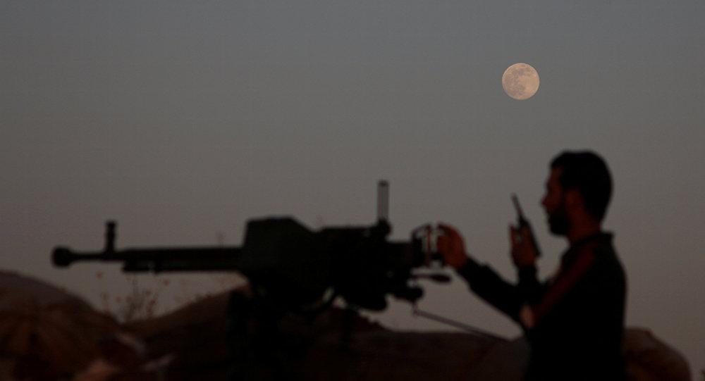 Un combatiente del Ejército Libre Sirio