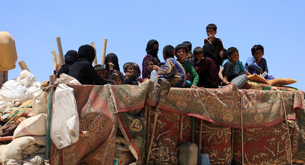 Los desplazados sirios (archivo)
