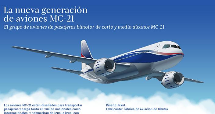 Nuevo avión ruso MC-21