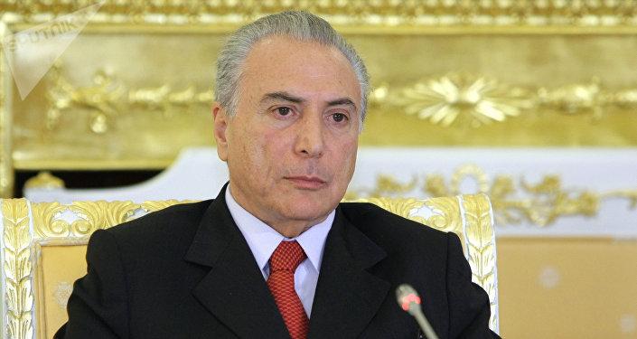 Michel Temer,  vicepresidente de la República de Brasil