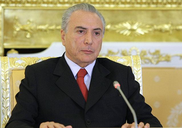 El vicepresidente de la República de Brasil, Michel Temer, durante su visita a Moscú en 2011