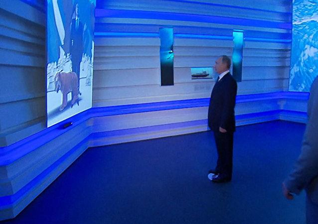 Putin se enfrenta a un tigre virtual