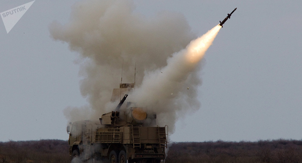 El sistema antiaéreo cañón-misil ruso Pantsir (archivo)