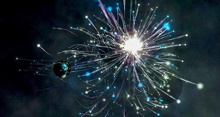 Una explosión cósmica (ilustración)