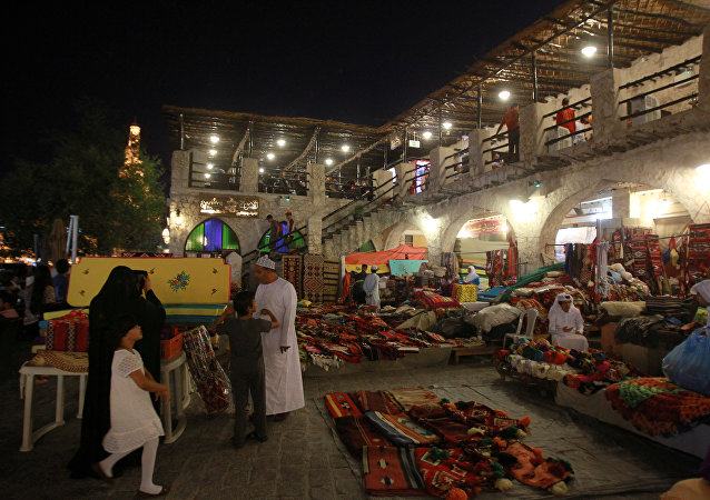 El mercado Souq Waqif en Doha, Catar