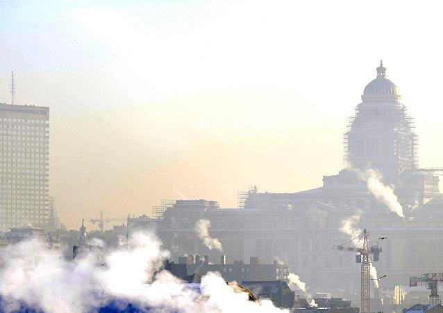Contaminación en Bruselas, Bélgica (archivo)