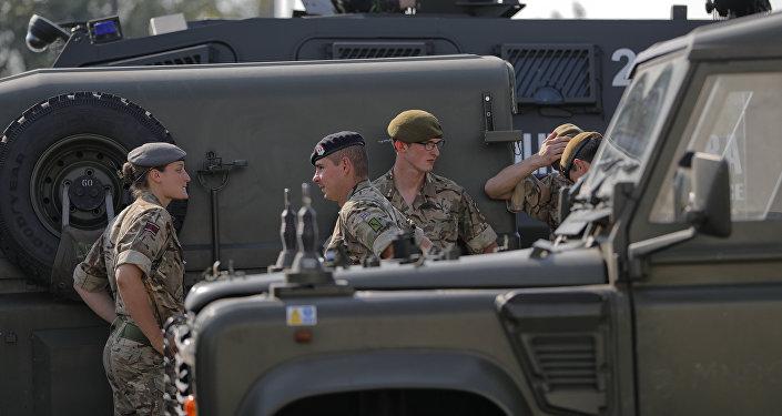 Los militares de la OTAN durante las maniobras Noble Jump 2017 (archivo)