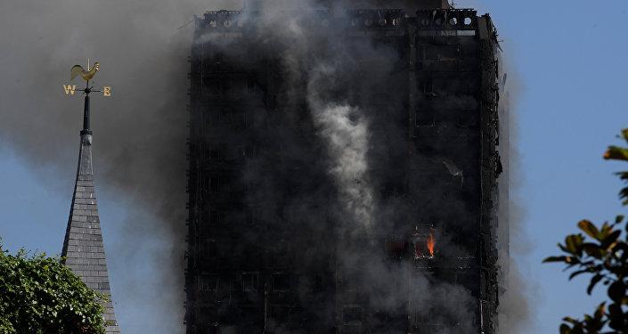 Incendio en el edificio de viviendas Grenfell Tower, en Londres (archivo)