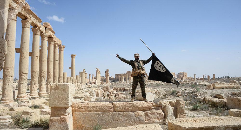 Combatientes del Estado Islámico en Palmira