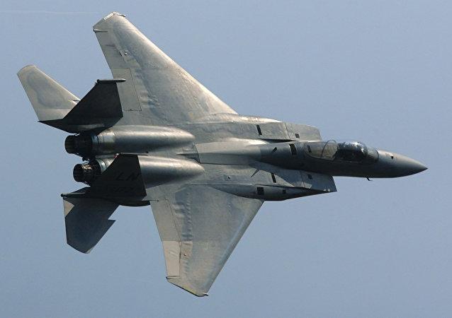La caza estadounidense F-15
