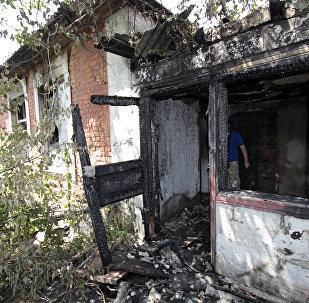 Consecuencias de los ataques en Donetsk (archivo)