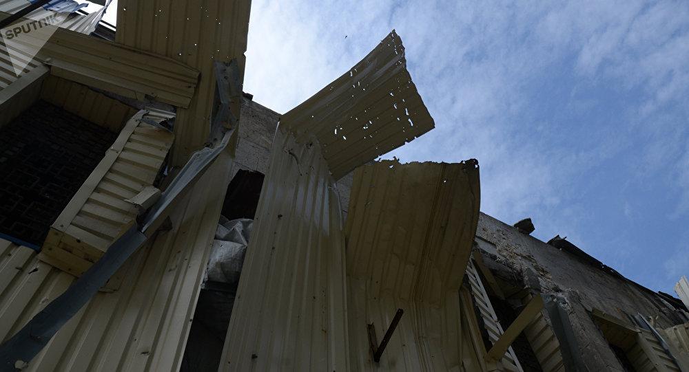 Consecuencias del bombardeo del distrito Kievski de Donetsk
