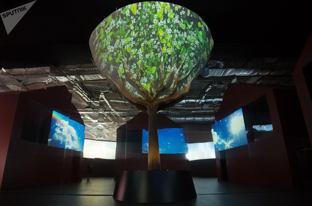 El árbol simboliza la necesidad de buscar soluciones sostenibles y responsables para el desarrollo humano