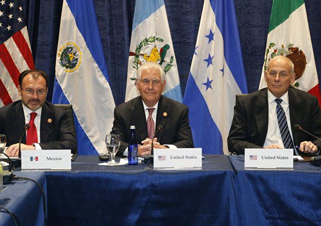 Rex Tillerson, secretario de Estado de EEUU, en la conferencia de Prosperidad y Seguridad en América Central