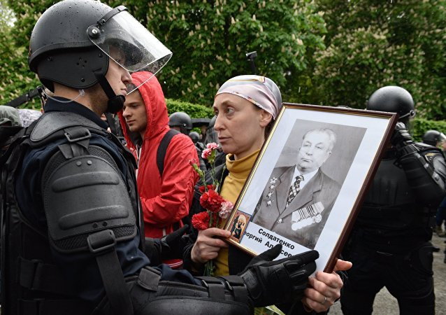 Choques durante el Regimiento Inmortal en Kiev