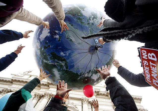 Globo en forma de la Tierra