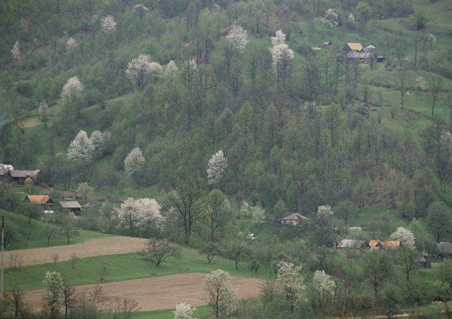 Un paisaje de los Montes Cárpatos