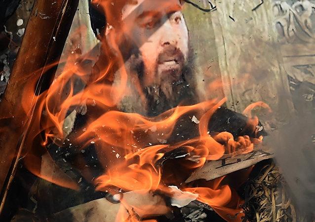 Imagen de Al Baghdadi, líder de Daesh (archivo)