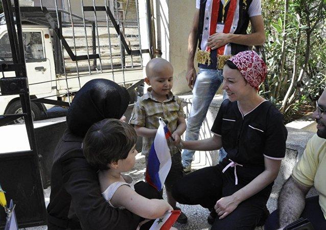 Rusia entrega a Siria medicamentos para los niños que sufren del cáncer