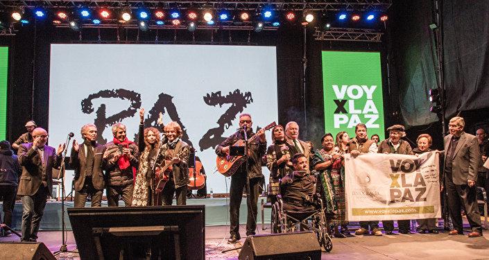 Festival Voy por la Paz reunió a consagrados músicos argentinos y cinco premios Nobel del la Paz en Rosario