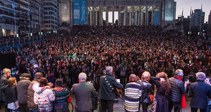 Monumento a la Bandera, en Rosario, recibe el festival Voy por la Paz