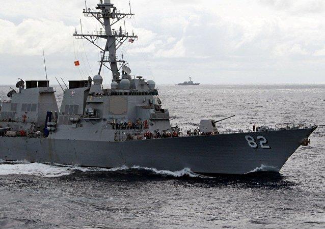 Un destructor estadounidense clase Arleigh Burke (imagen referencial)