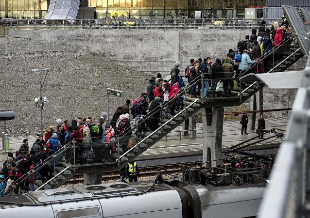 Refugiados en Suecia (archivo)