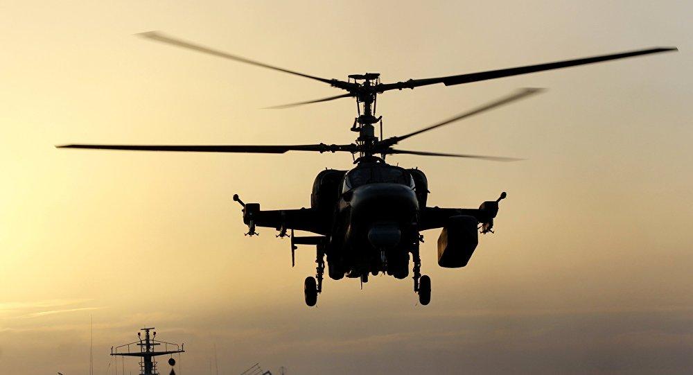 Helicóptero ruso Ka-52K (archivo)