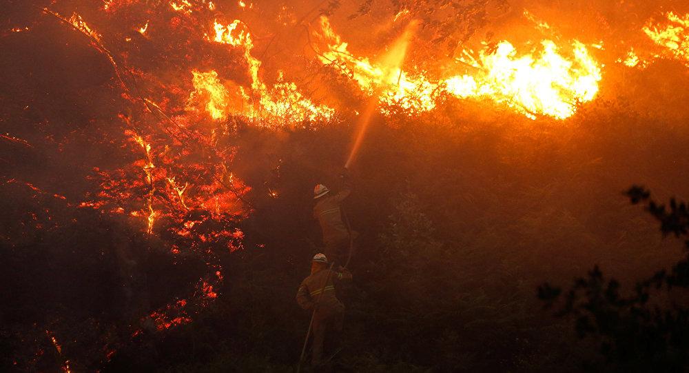 Incendio forestal en Portugal