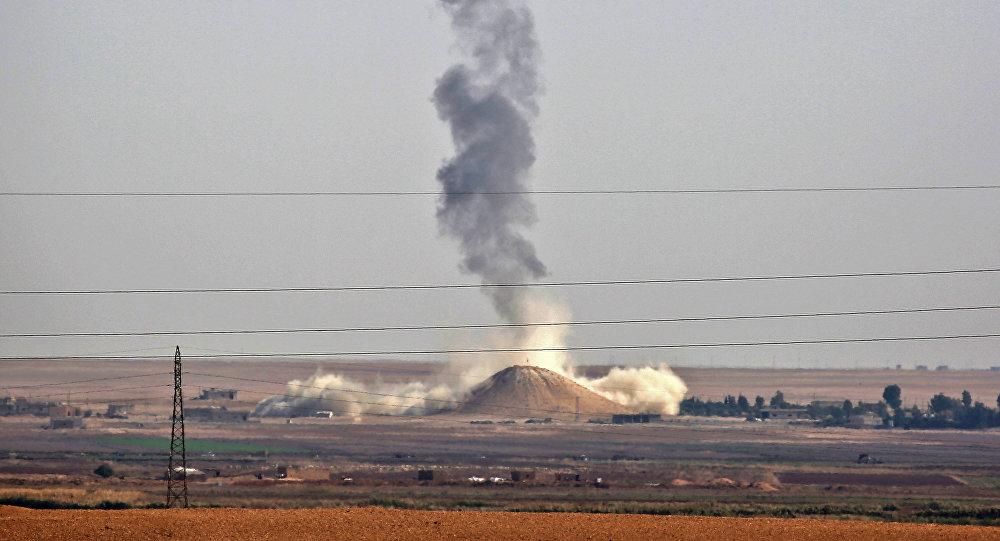 Un ataque aéreo de la coalición liderada por Estados Unidos en Siria