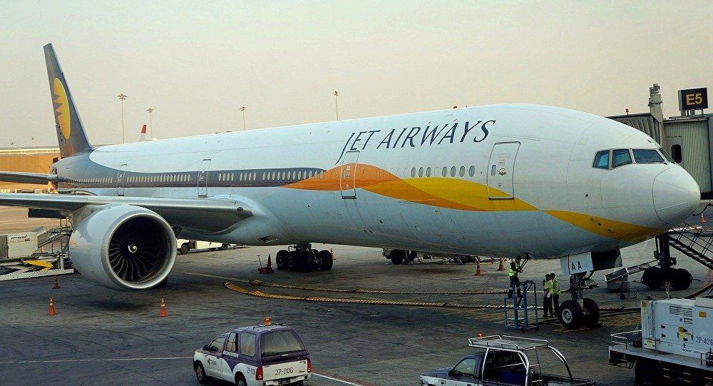 Un avión de la aerolínea Jet Airways