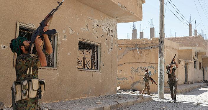 Los combatientes kurdos en Siria (archivo)