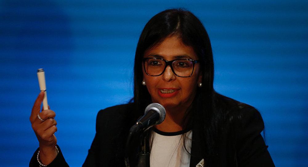 Delcy Rodríguez, presidenta de la Asamblea Nacional Constituyente (archivo)