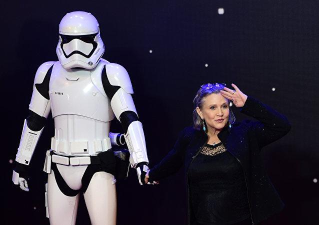 Carrie Fisher, actriz estadounidense de Star Wars (La guerra de las galaxias, en español)