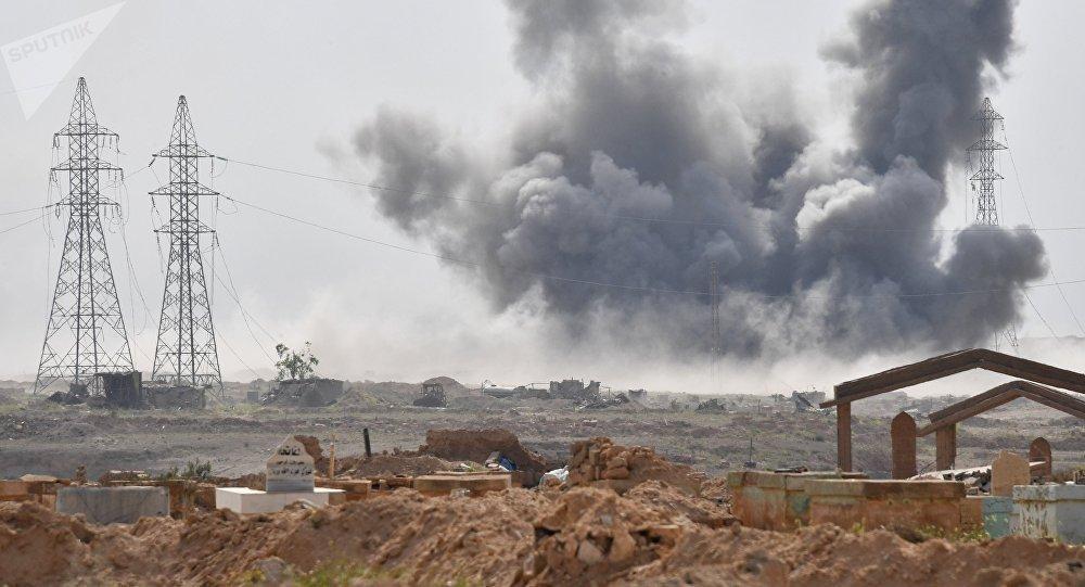 Los ataques de las Fuerzas Aeroespaciales de Rusia contra las posiciones de Daesh cerca de la ciudad siria de Deir Ezzor (archivo)