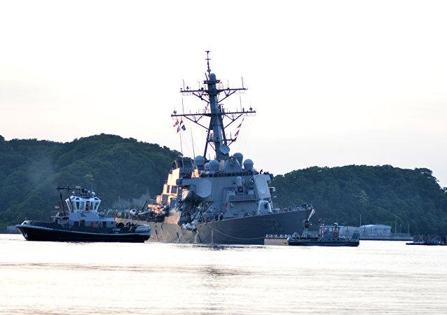 La colisión del destructor estadounidense USS Fitzgerald con el buque mercante filipino ACX Crystal