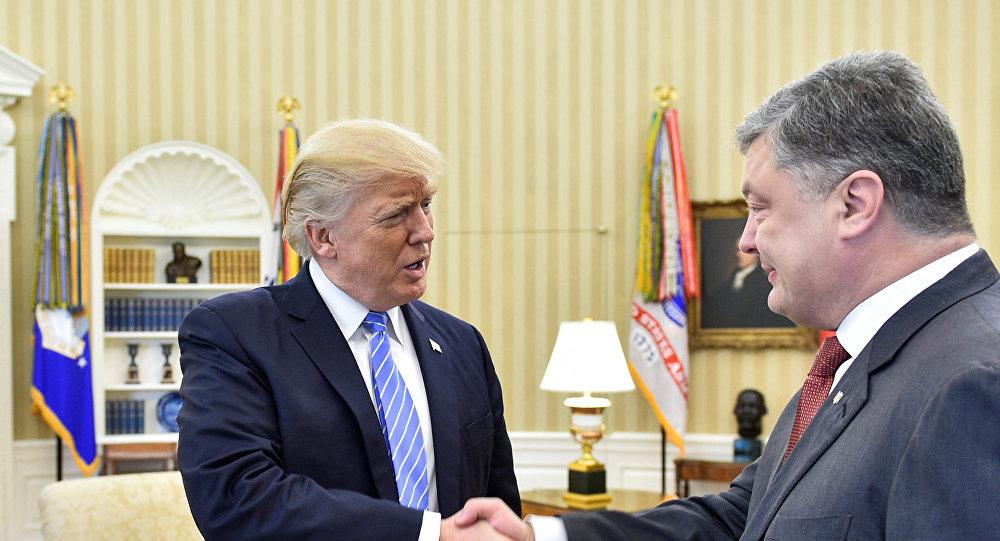 Presidente de Ucrania, Petró Poroshenko, y presidente de EEUU, Donald Trump