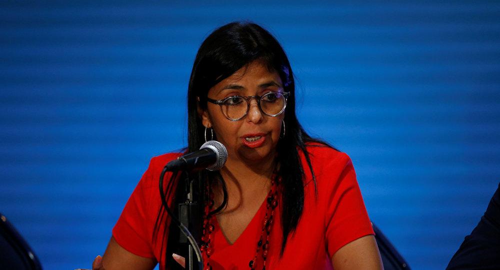 Delcy Rodríguez, nueva vicepresidenta ejecutiva de Venezuela (archivo)