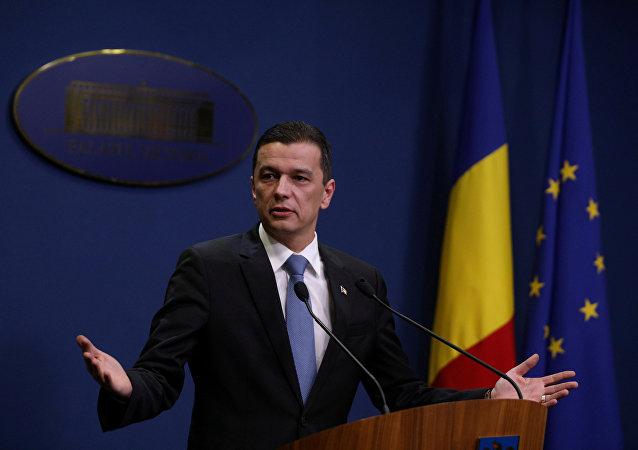Sorin Grindeanu, primer ministro rumano (archivo)