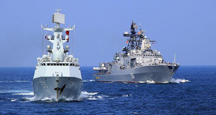 Maniobras navales de China y Rusia
